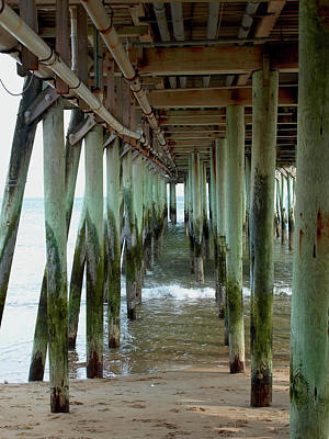 Photograph - Under The Boardwalk by Mary Capriole