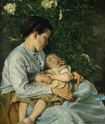 Painting - Under The Elderberry by Treasury Classics Art
