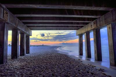 Photograph - Under The Gulf Shores Pier by JC Findley
