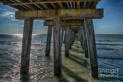 Photograph - Under The Naples Pier by Judy Hall-Folde