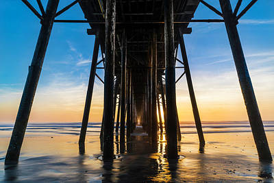 Ocean Sunset Photograph - Under The Oceanside Pier by Larry Marshall