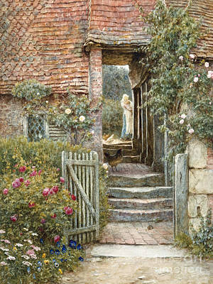 Under The Old Malthouse, Hambledon, Surrey Art Print by Helen Allingham