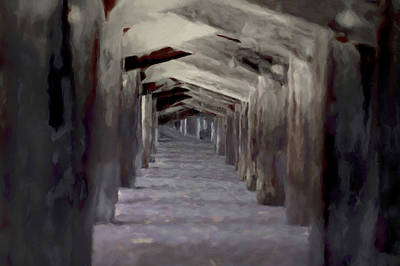 Digital Art - Under The Pier by Ernie Echols