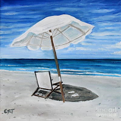 Painting - Under The Umbrella by Elizabeth Robinette Tyndall