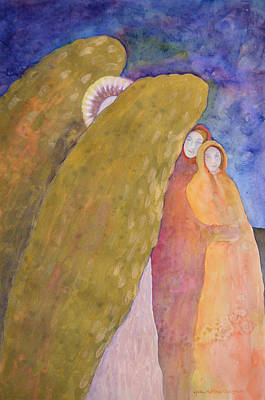 Under The Wing Of An Angel Art Print by Lynda Hoffman-Snodgrass