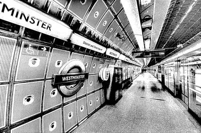 London Tube Photograph - Underground London Art by David Pyatt