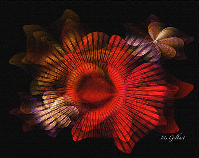 Digital Art - Underwater Floral by Iris Gelbart