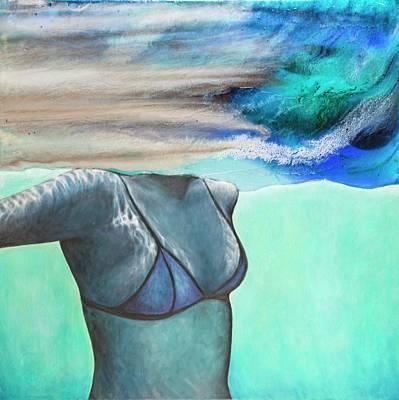 Mixed Media - Underwater Series #1 by Laini Eckardt
