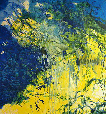Abstract Art Painting - Underworld by Nickola McCoy-Snell