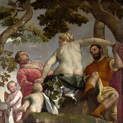 Unclothed Painting - Unfaithfulness by Paolo Veronese