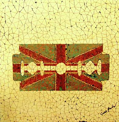 Flag Painting - Union Jack by Emil Bodourov