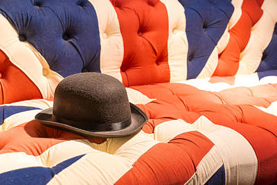 Photograph - Union Jack Flag English Sofa And Bowler Hat by John Williams