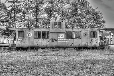 Photograph - Burlington Northern Caboose by Richard J Cassato