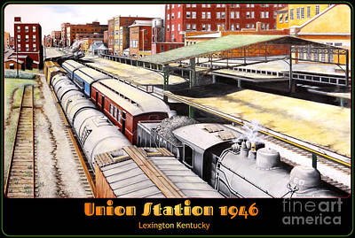 Mail Box Drawing - Union Station by David Neace