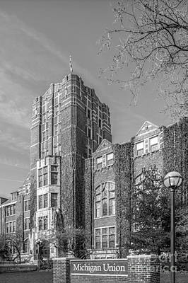 University Of Michigan Photograph - University Of Michigan Union by University Icons