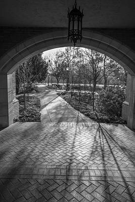 Photograph - University Of Notre Dame Black And White 2 by John McGraw