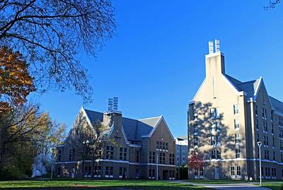 Photograph - University Of Toledo Sullivan Hall And Academic House by Michiale Schneider
