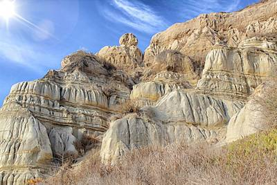 Unstable Cliffs Art Print