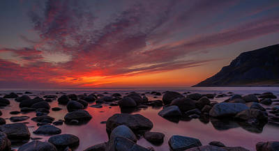 Photograph - Unstad Sunset by Andy Bitterer
