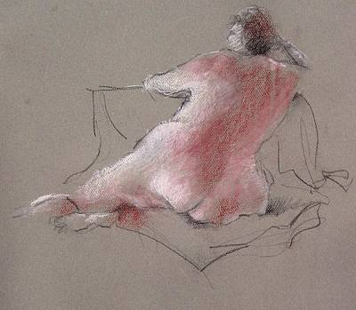 Nude Drawing - Untitled by Paul Miller