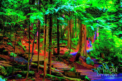 Digital Art - Up The Trail by Rick Bragan