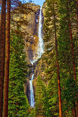 Photograph - Upper And Lower Yosemite Falls by Garry Gay