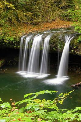 Photograph - Upper Butte Creek Falls In Autumn by David Gn