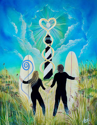 Painting - Uprising Of Love Hatteras by Angel Fritz