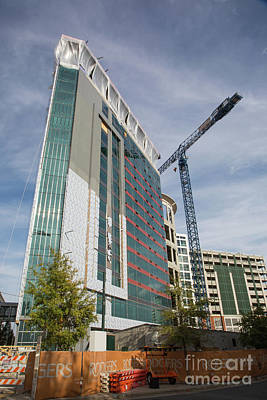 Photograph - Uptown Charlotte Construction by Kevin McCarthy