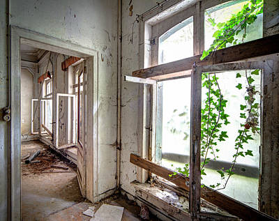 Urban Decay Nature Takes Over - Abandoned Building Art Print by Dirk Ercken