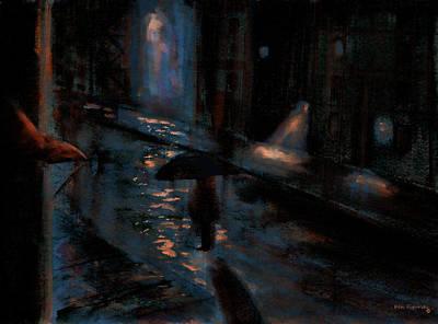 New York City Skyline Mixed Media - Urban Isolation  by Ken Figurski
