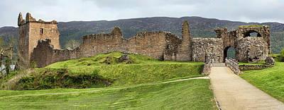 Photograph - Urquhart  Castle Wide by Paul DeRocker