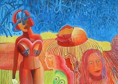 Urunthrumymindlikeawaterfallpoem Art Print by Richard Heley
