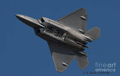 Photograph - Us Air Force F-22 Raptor At Oshkosh 2008 by Antoine Roels