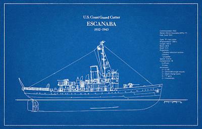 Navy Digital Art - U.s. Coast Guard Cutter Escanaba by Jose Elias - Sofia Pereira