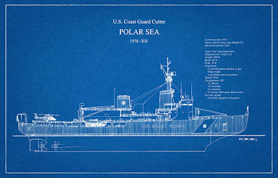 Sea Digital Art - U.s. Coast Guard Cutter Polar Sea by Jose Elias - Sofia Pereira