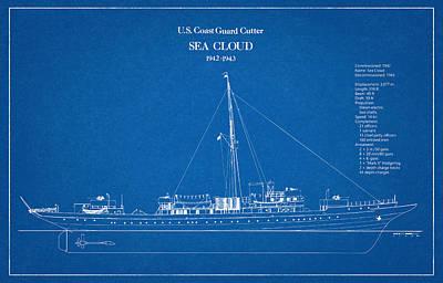 U.s. Coast Guard Cutter Sea Cloud Art Print by Jose Elias - Sofia Pereira