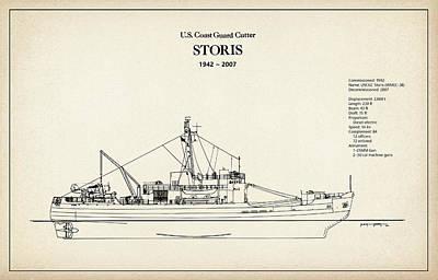 U.s. Coast Guard Cutter Storis Art Print by Jose Elias - Sofia Pereira