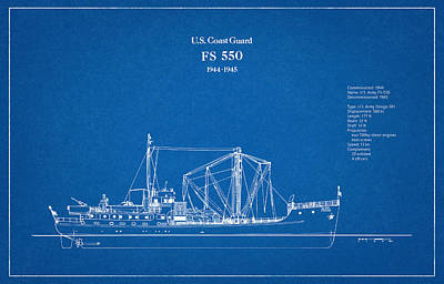 550 Digital Art - U.s. Coast Guard Fs 550 by Jose Elias - Sofia Pereira