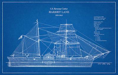 U.s. Coast Guard Revenue Cutter Harriet Lane Art Print