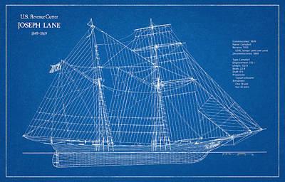 Coast Guard Digital Art - U.s. Coast Guard Revenue Cutter Joseph Lane by Jose Elias - Sofia Pereira
