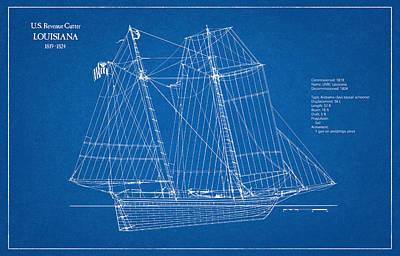 Historic Schooner Digital Art - U.s. Coast Guard Revenue Cutter Louisiana by Jose Elias - Sofia Pereira