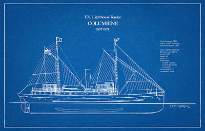 Lighthouse Digital Art - U.s. Coast Guard Tender Columbine by Jose Elias - Sofia Pereira