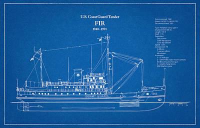 Hollyhock Digital Art - U.s. Coast Guard Tender Fir by Jose Elias - Sofia Pereira