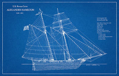 U.s. Revenue Cutter Alexander Hamilton Art Print