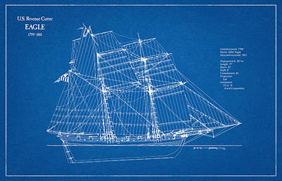 Boat Digital Art - U.s. Revenue Cutter Eagle - 18th Century by Jose Elias - Sofia Pereira