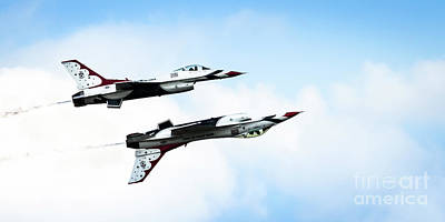 Photograph - Usaf Thunderbirds by Lawrence Burry