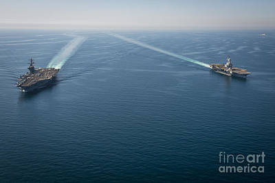 Carrier Painting - Uss Carl Vinson by Celestial Images