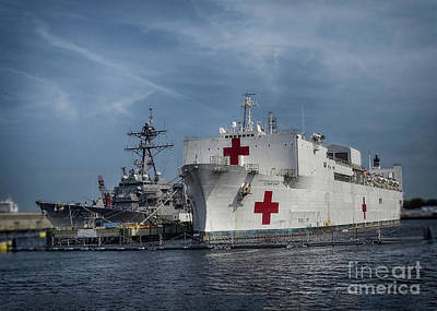Photograph - Uss Comfort by Melissa Messick