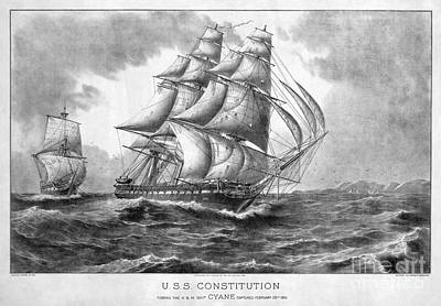 Photograph - Uss Constitution, 1815 by Granger